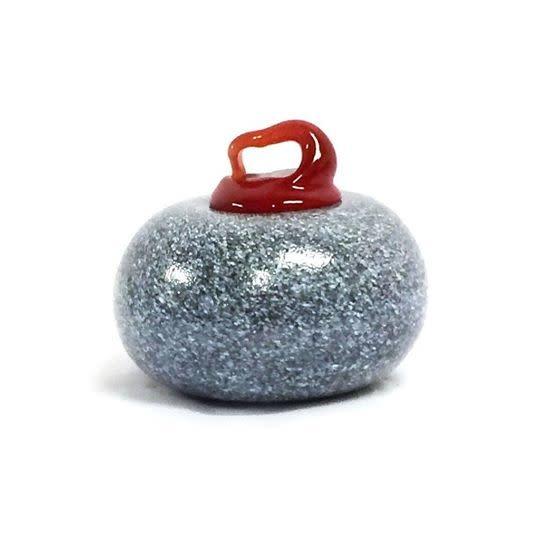 Warthog Glassworks - Ted Jolda Ornament - Curling Rock