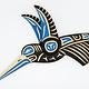 Steve Hoffmann Harvey John - Cedar Carving - 3D Hummingbird