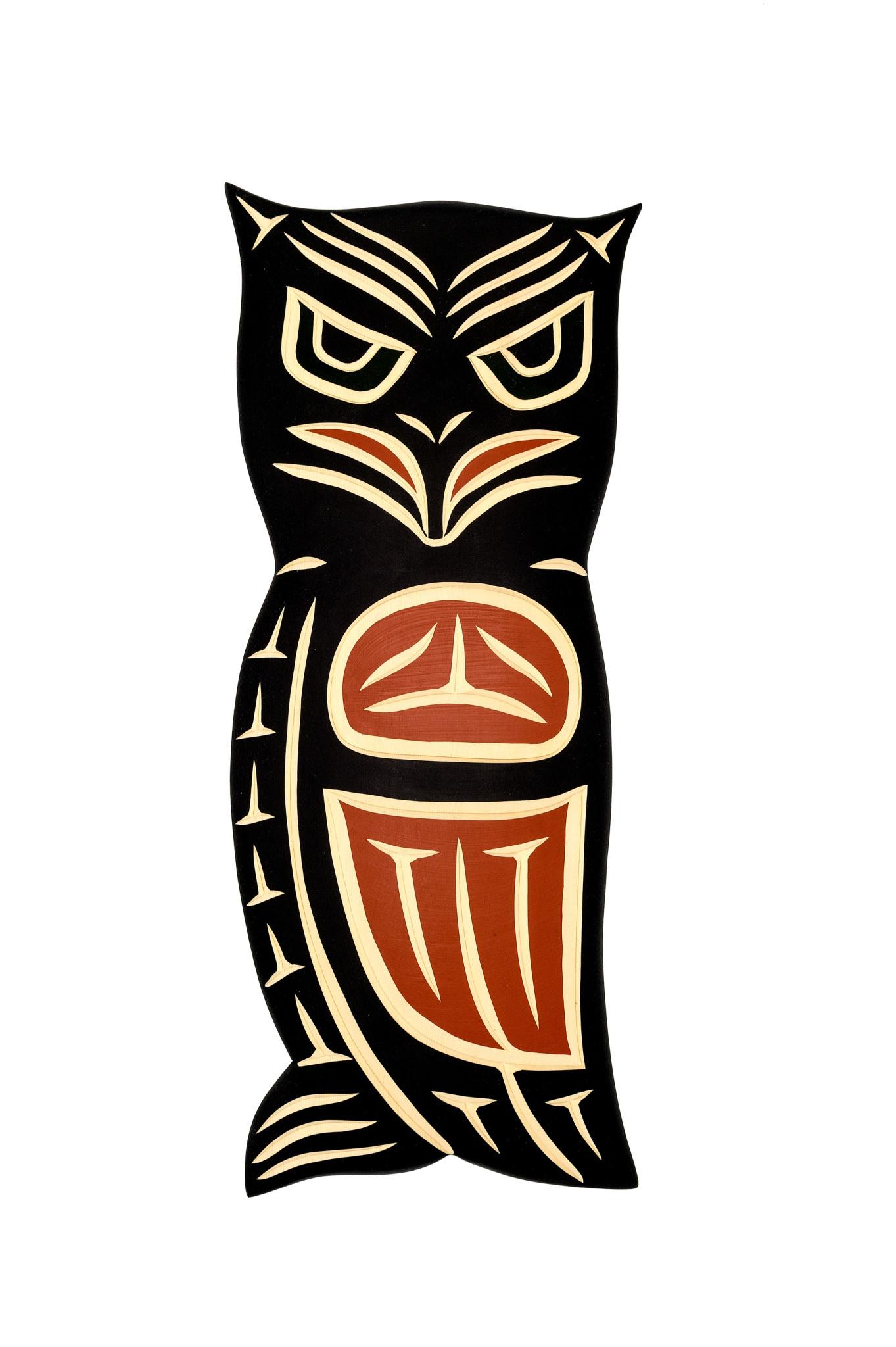 Steve Hoffmann Harvey John - Cedar Carving - Owl - Painted