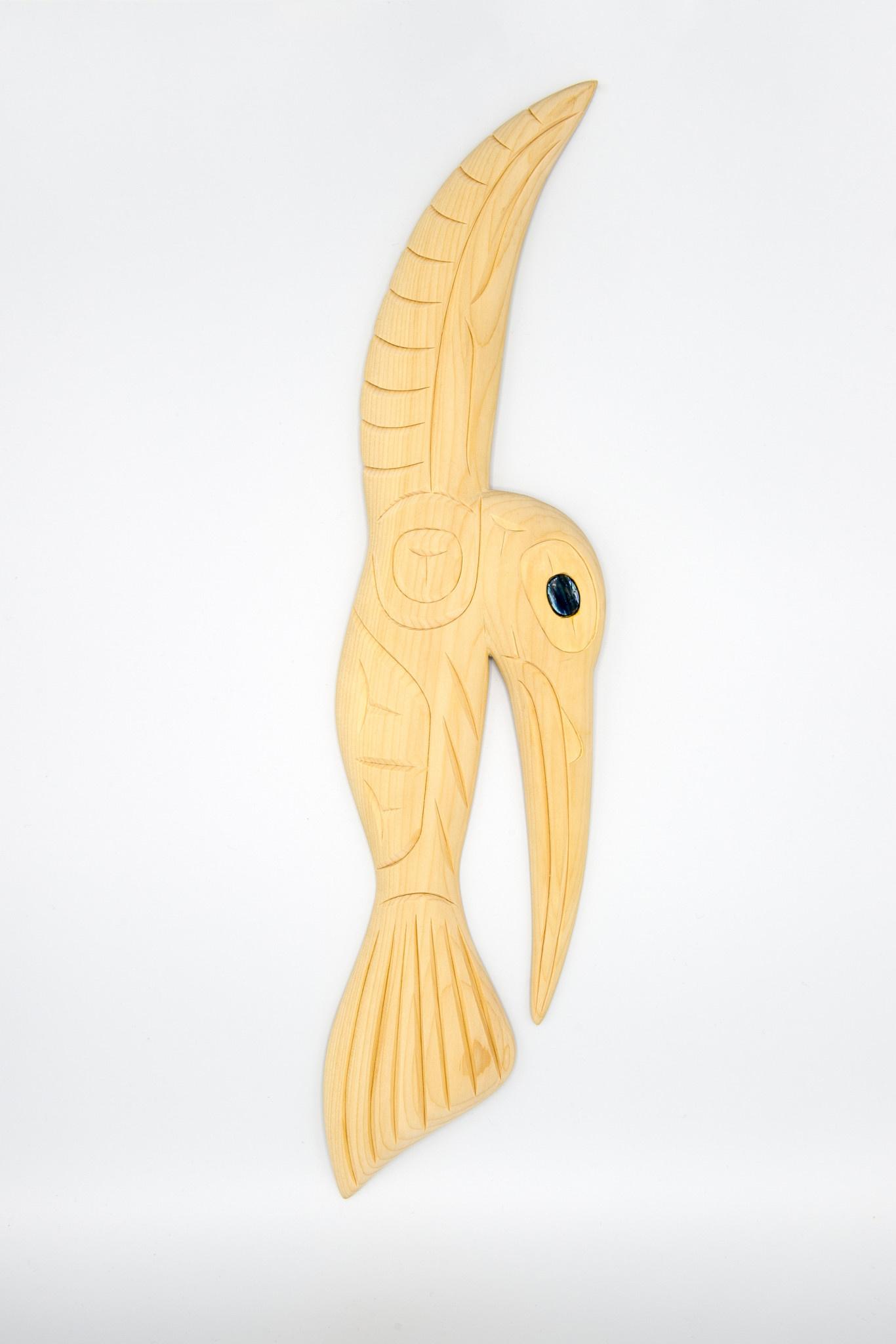Steve Hoffmann Harvey John - Cedar Carving - Flat Hummingbird - Clear