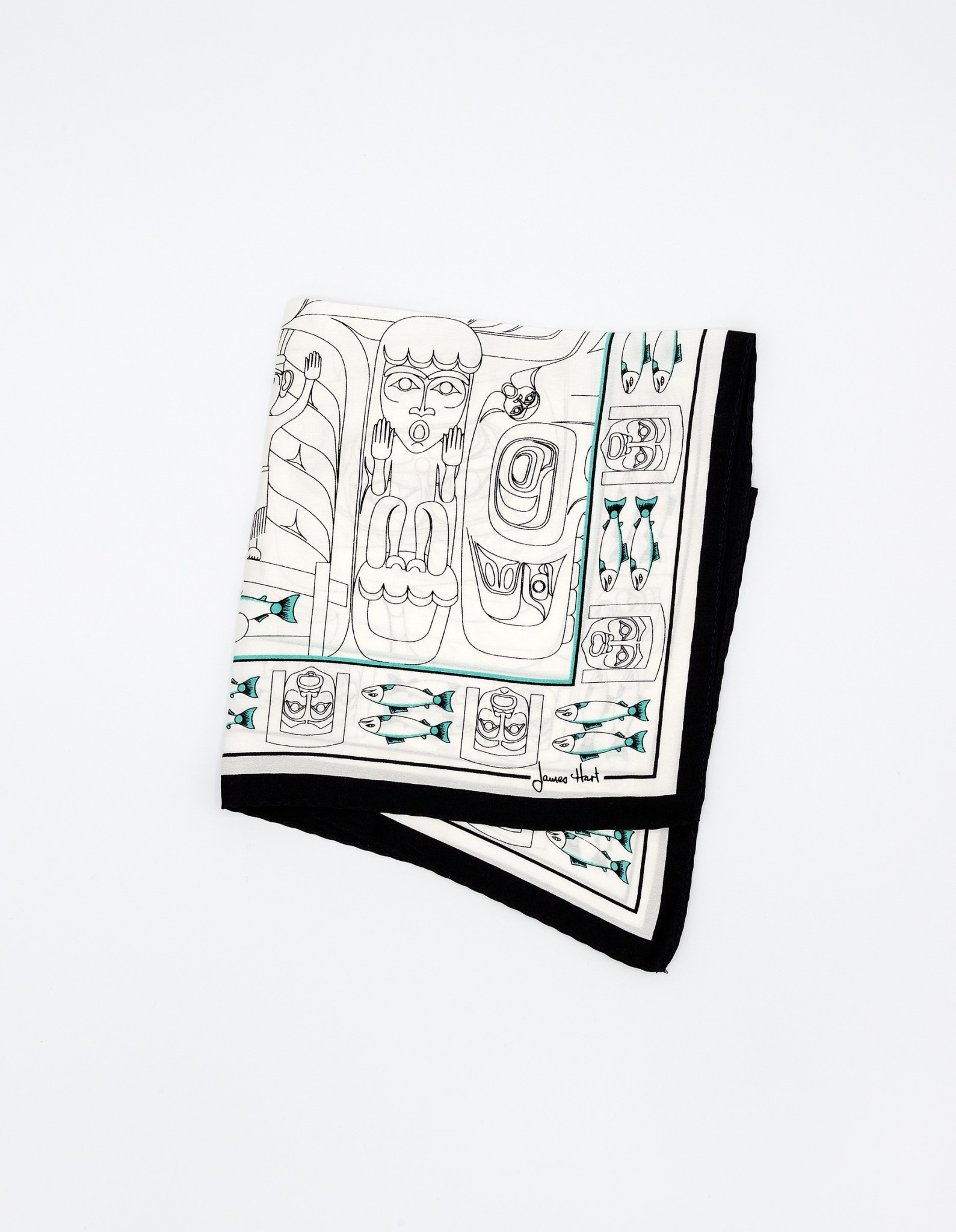AAM Collection Silk Pocket Square - The Dance Screen - James Hart