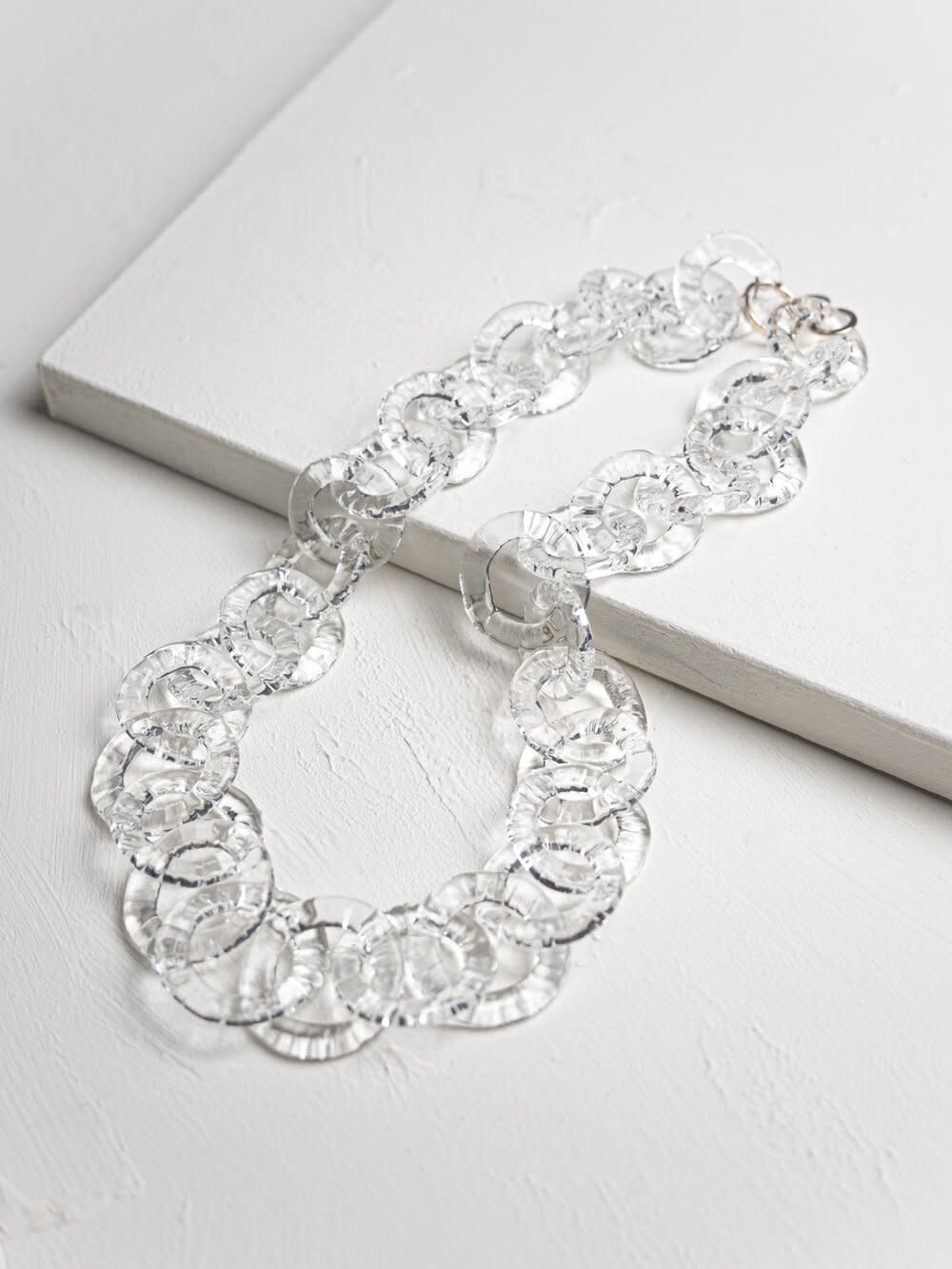 Minori Takagi Necklace - Chain Circle - Clear Glass