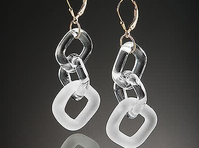 Minori Takagi Earrings - Chain - Sandblasted - White