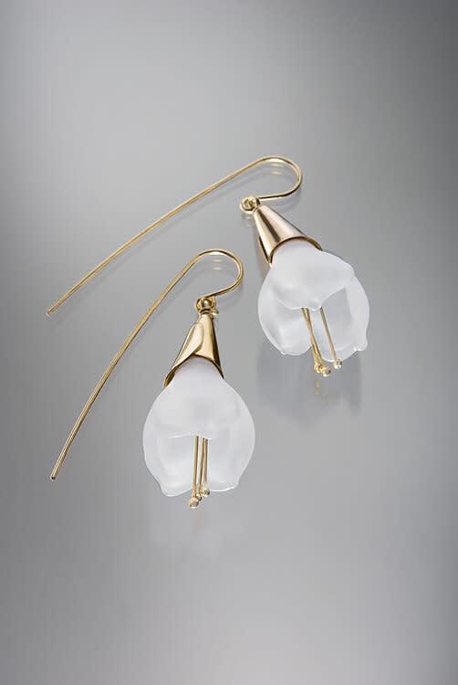 Minori Takagi Earrings - Glass Lily