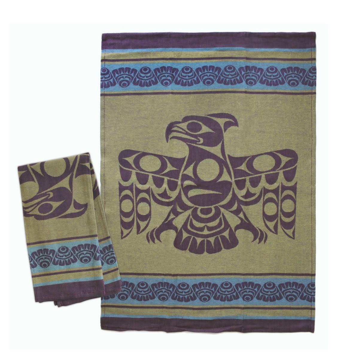 Tea Towel - Thunderbird - Green, Purple, Blue
