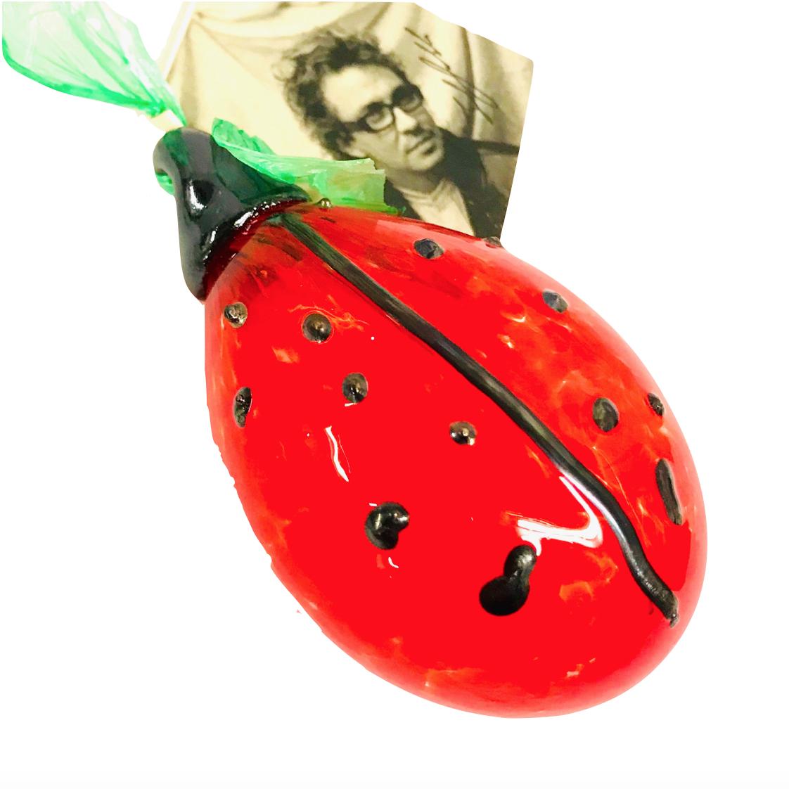 Warthog Glassworks - Ted Jolda Ornament - Ladybug
