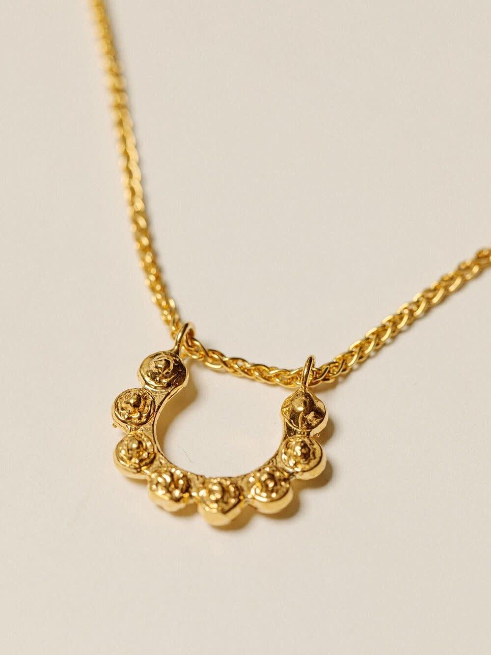 "Pamela Card Necklace - Doni Tondo - 24K Gold Plated - 20"""