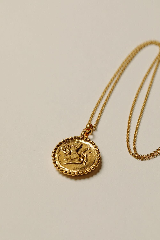 "Pamela Card Necklace - Mare of Estoi - 24K Gold Plated - 22"""