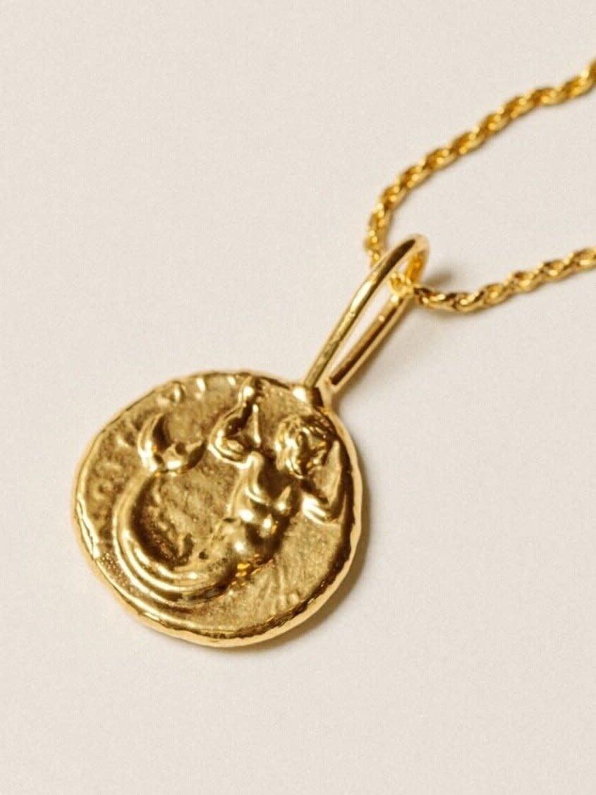 Pamela Card Necklace - Final Storm - 24K Gold Plated