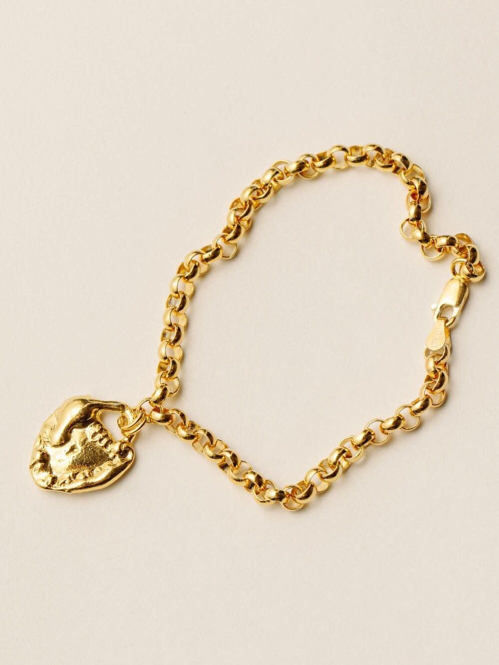 Pamela Card Bracelet - Unveiled Love - 24K Gold Plated