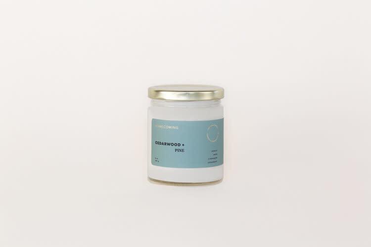 Soy Wax Candle Cedarwood + Pine