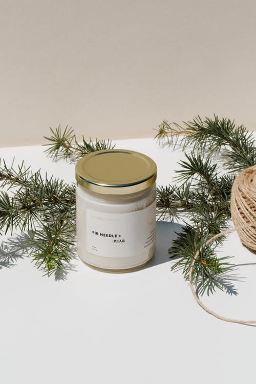 Soy Wax Candle Fir Needle + Pear