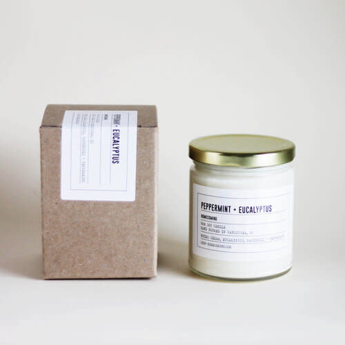Soy Wax Candle Peppermint + Eucalyptus