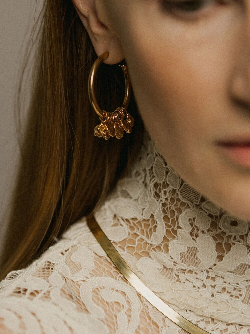 Pamela Card Earrings - Serapis - 24K Gold Plated