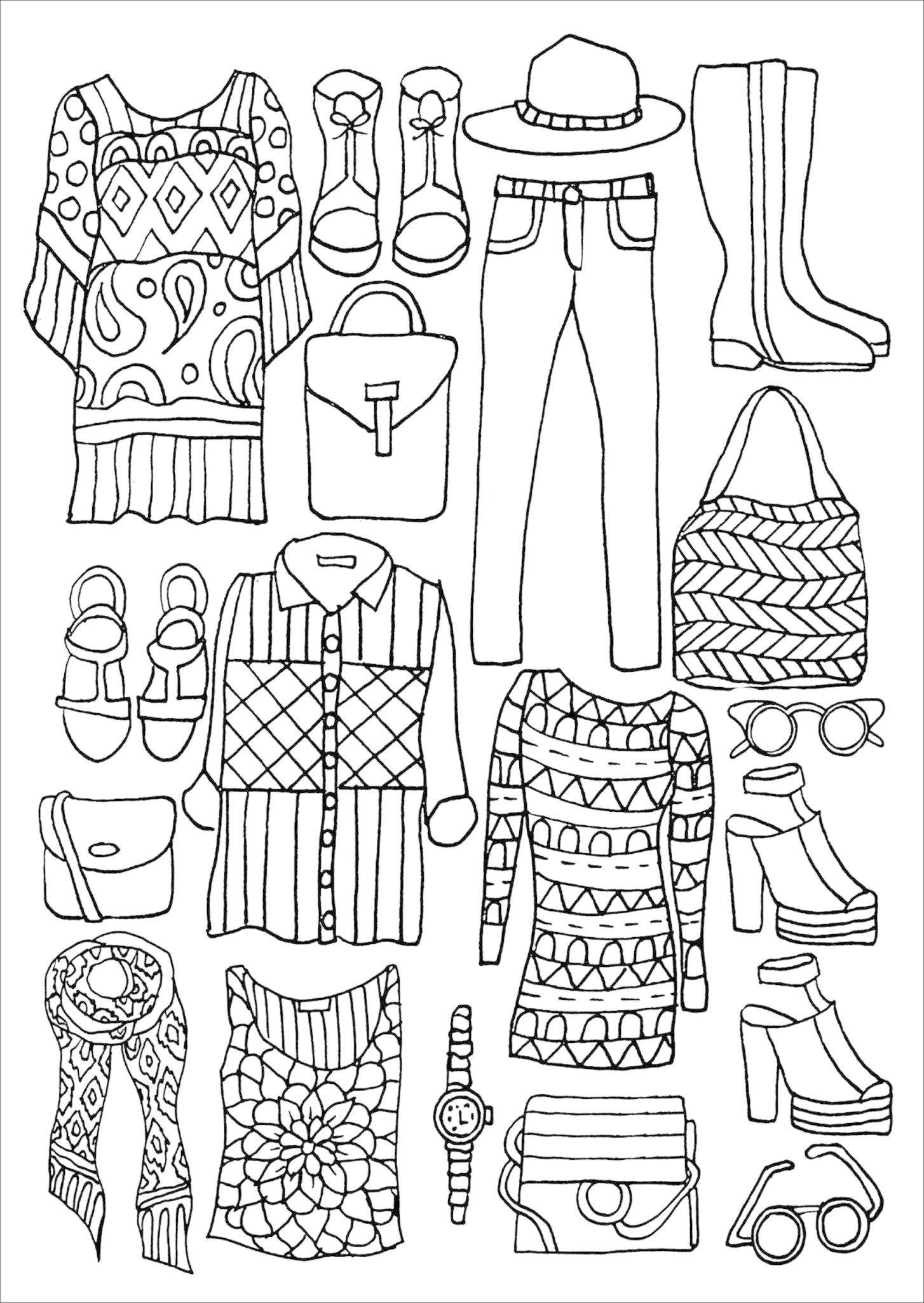 Fashion - Artist's Coloring Book