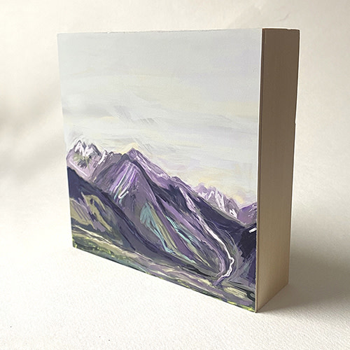 Heather Johnston Art Block -  Lavender Light Rockies