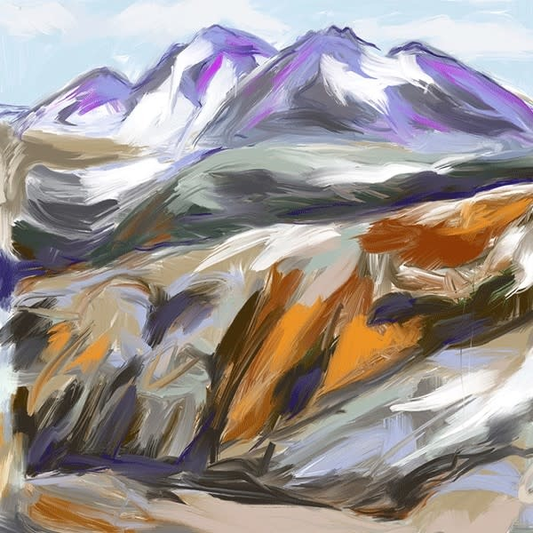 Heather Johnston Art Block -  Burnt Stew Whistler