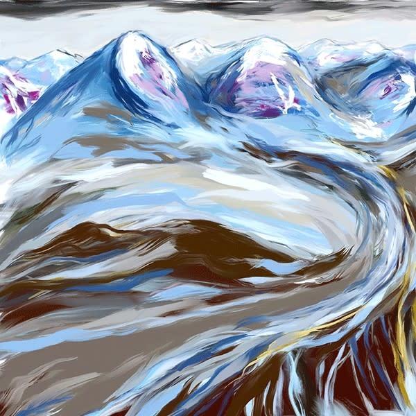 Heather Johnston Art Block -  Glacial Drift