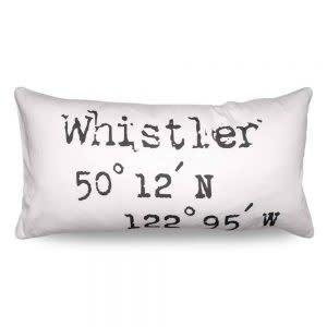 Heather Johnston Pillow - Coordinates Whistler - White