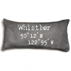 Heather Johnston Pillow - Coordinates Whistler - Grey