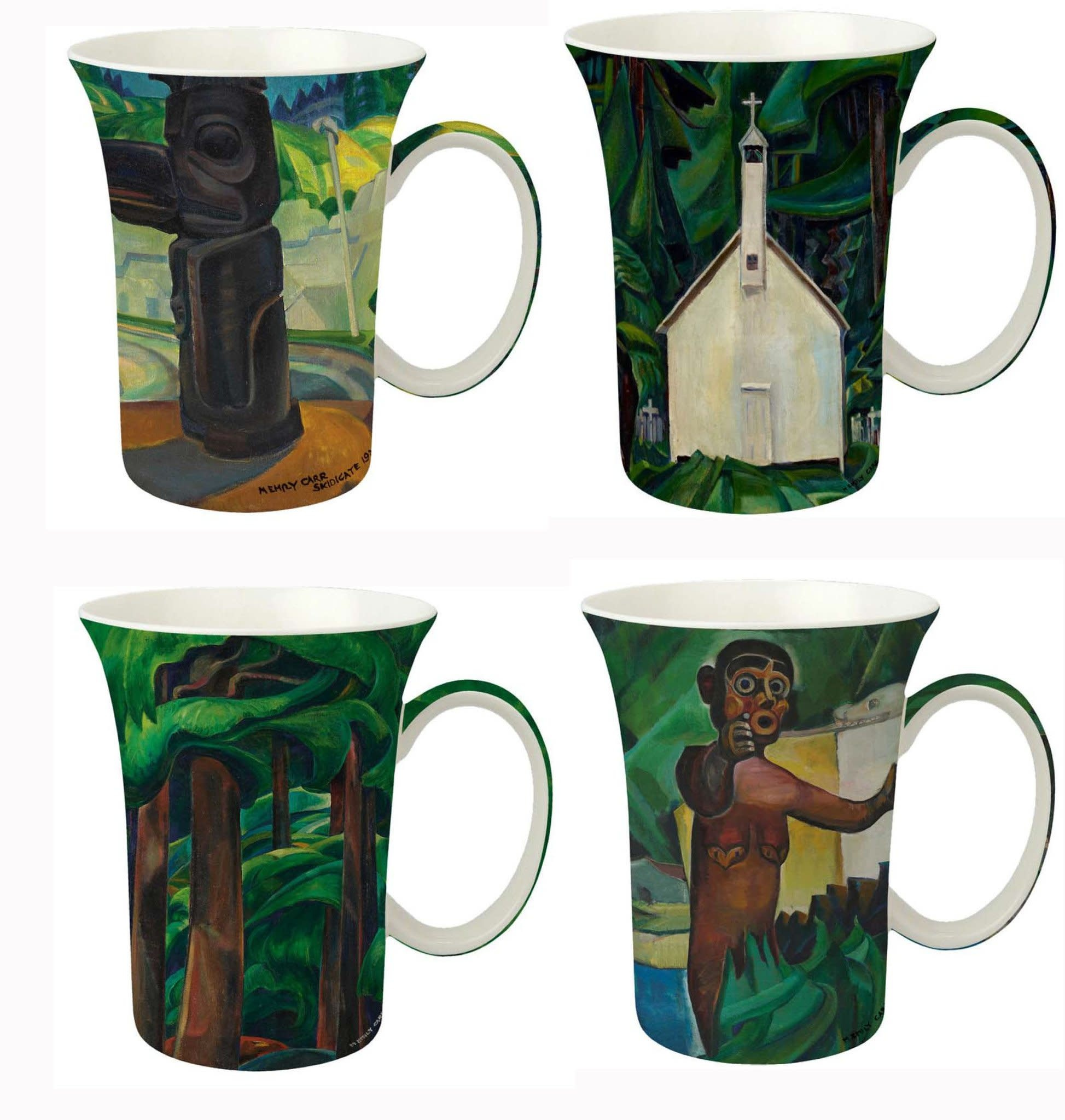 Set of 4 Mugs Emily Carr