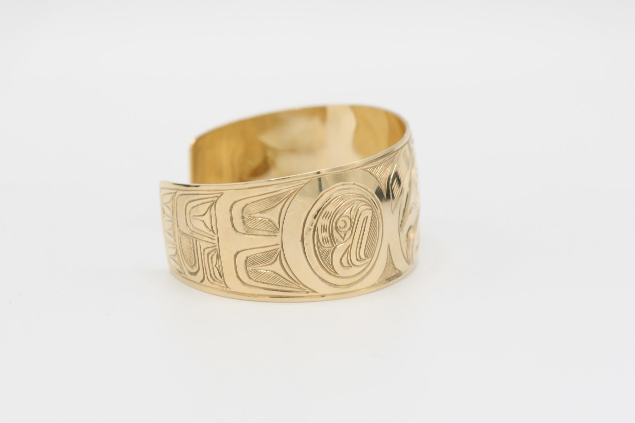 """Eagle Bracelet 1 1/4"""" 14K Gold"""