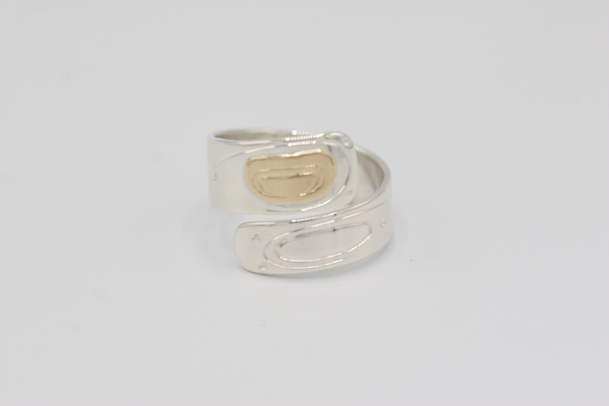 Walter Davidson Ring - Eye Catcher Wrap, S/S, 14K