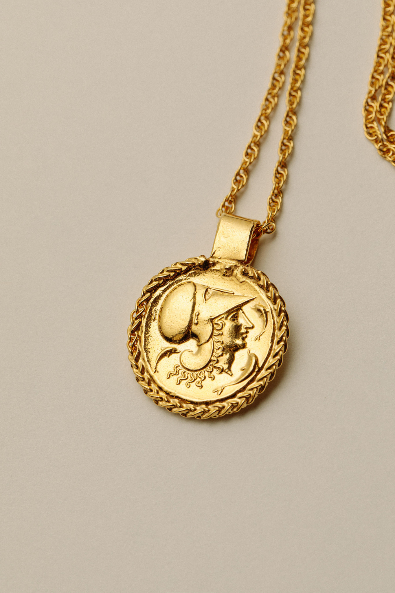 """Pamela Card Necklace - A Rococo Tale - 24K Gold Plated - 18"""""""
