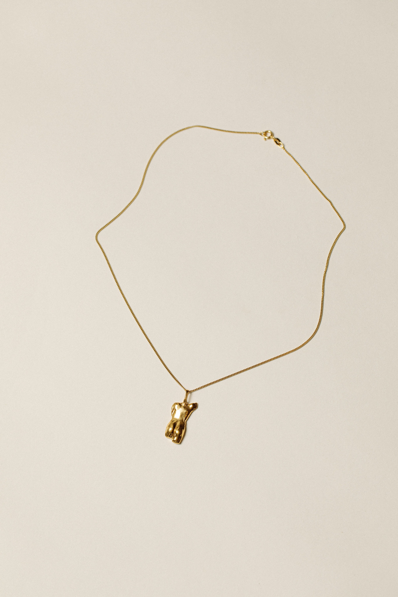 "Pamela Card Necklace - Last Grace - 24K Gold Plated- 16"""