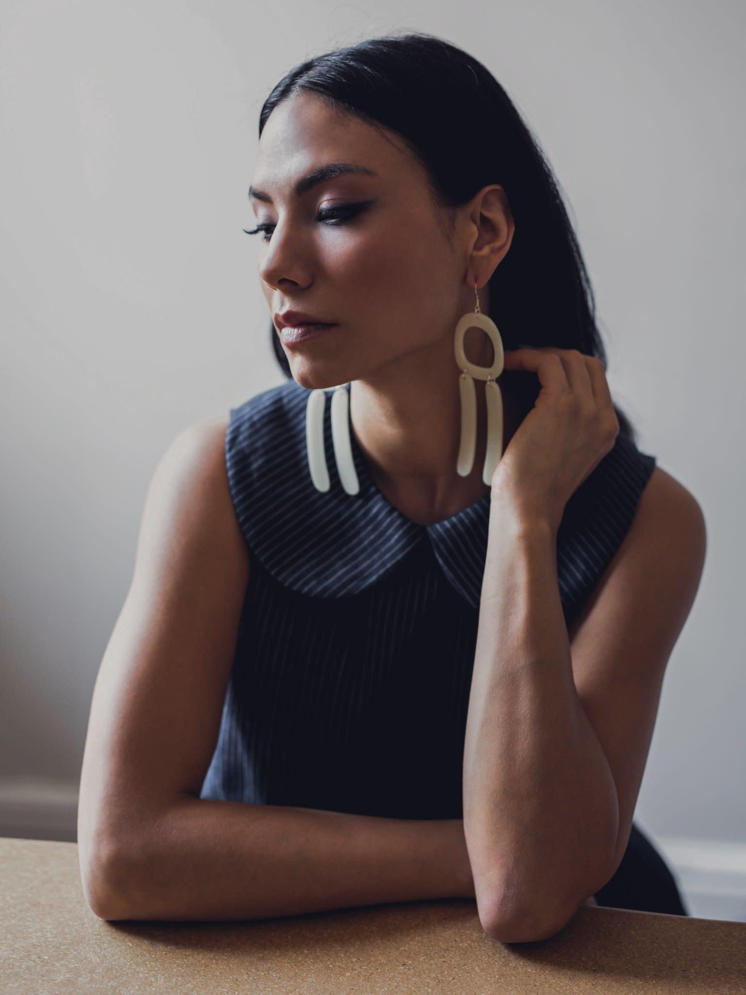 Earrings - Double Bar