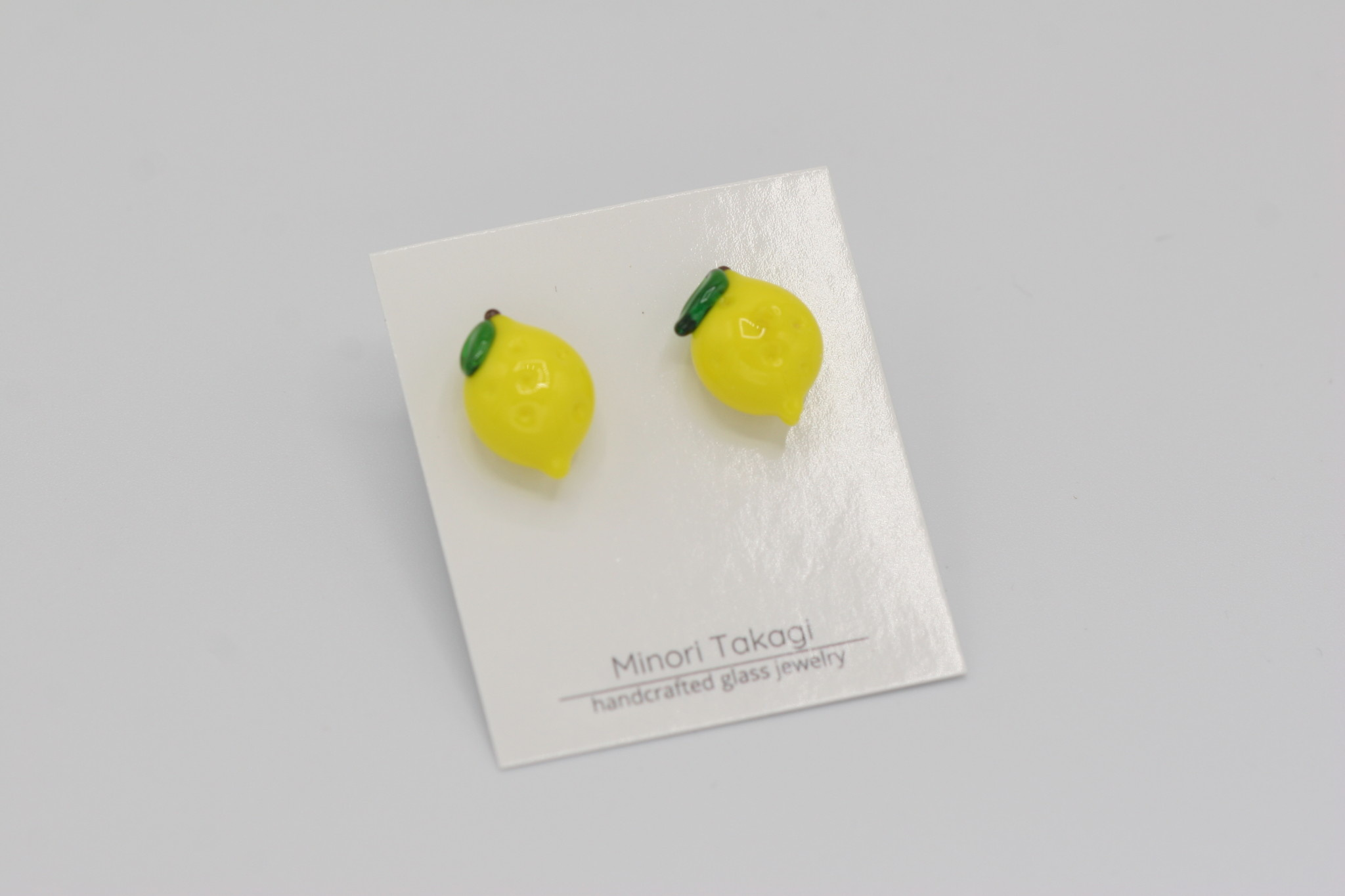 Minori Takagi Earrings - Lemon