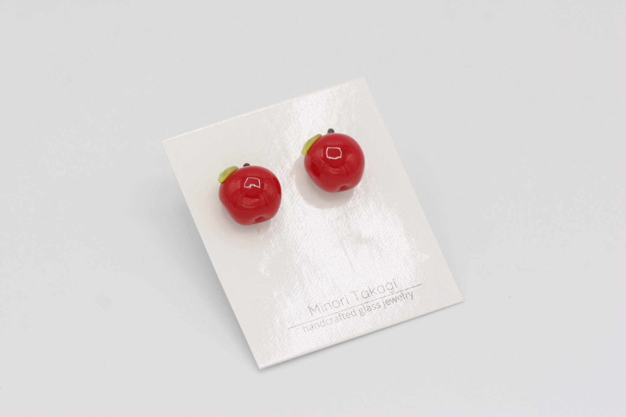 Minori Takagi Earrings - Red Apple