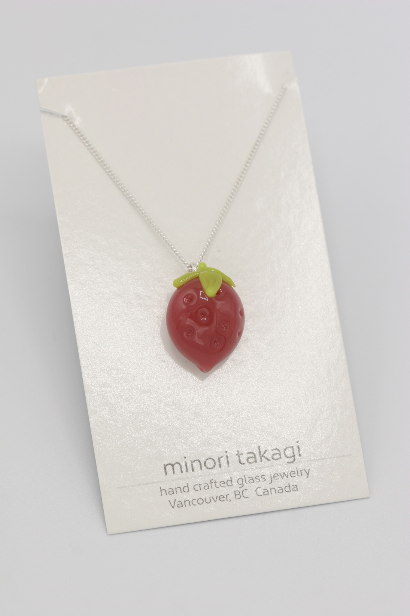 Minori Takagi Necklace - Strawberry Pink