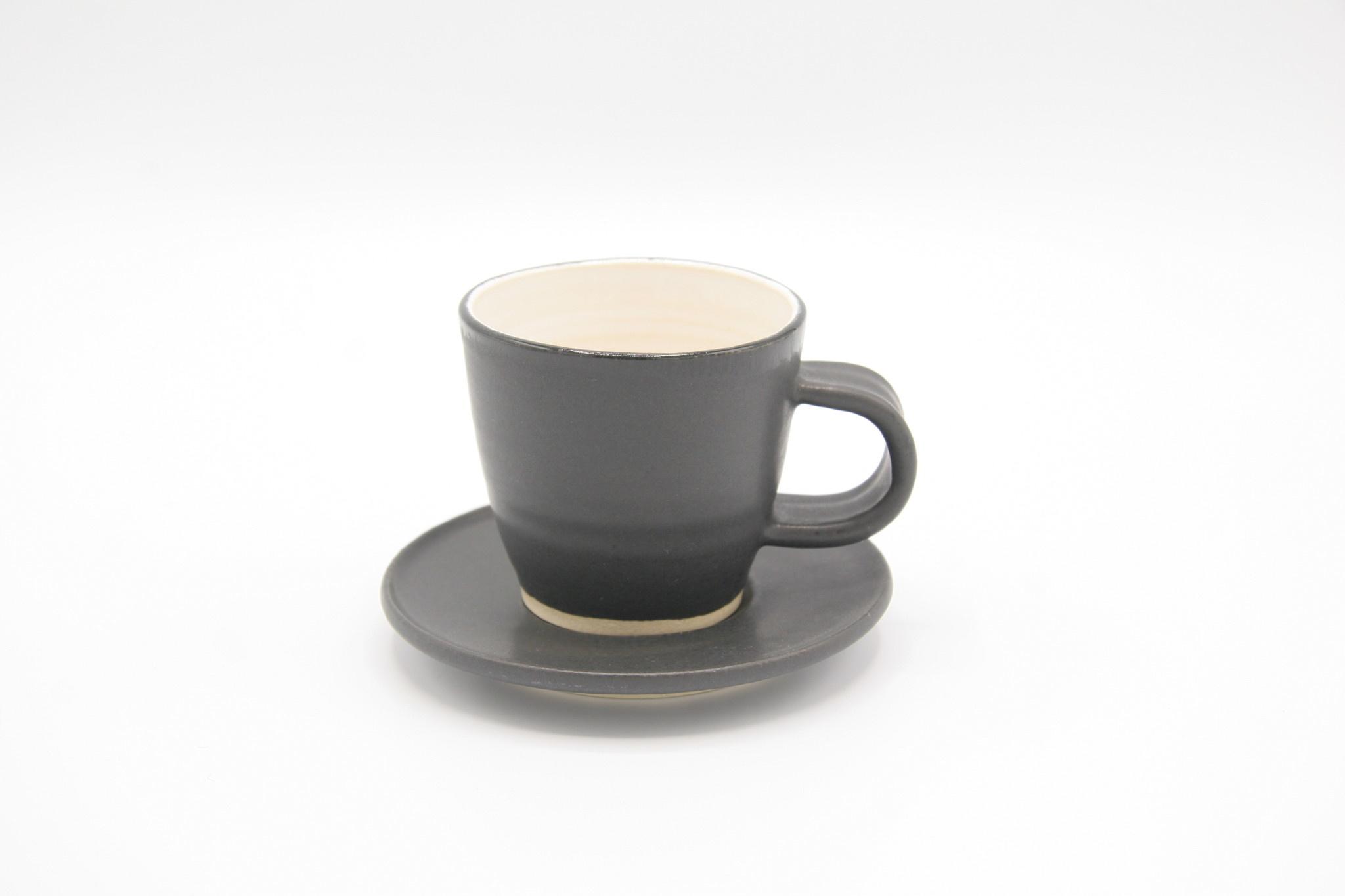 Carolyn DiPasquale - CCBC Espresso Cup  & Saucer - Black/White