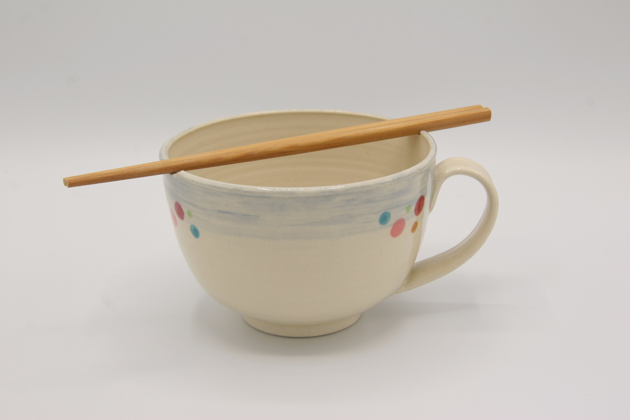 Carolyn DiPasquale - CCBC Large Noodle Bowl with Handle & Chopsticks
