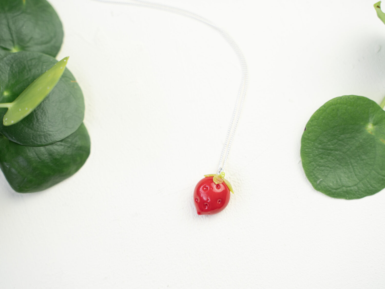 Minori Takagi Necklace - Strawberry Red
