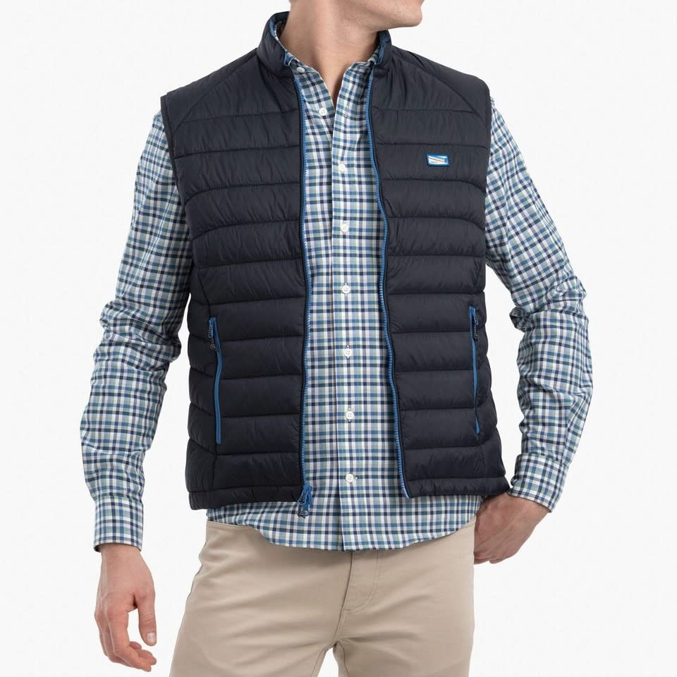 JOHNNIE-O Johnnie-O Hudson Quilted 2-Way Zip Front Vest