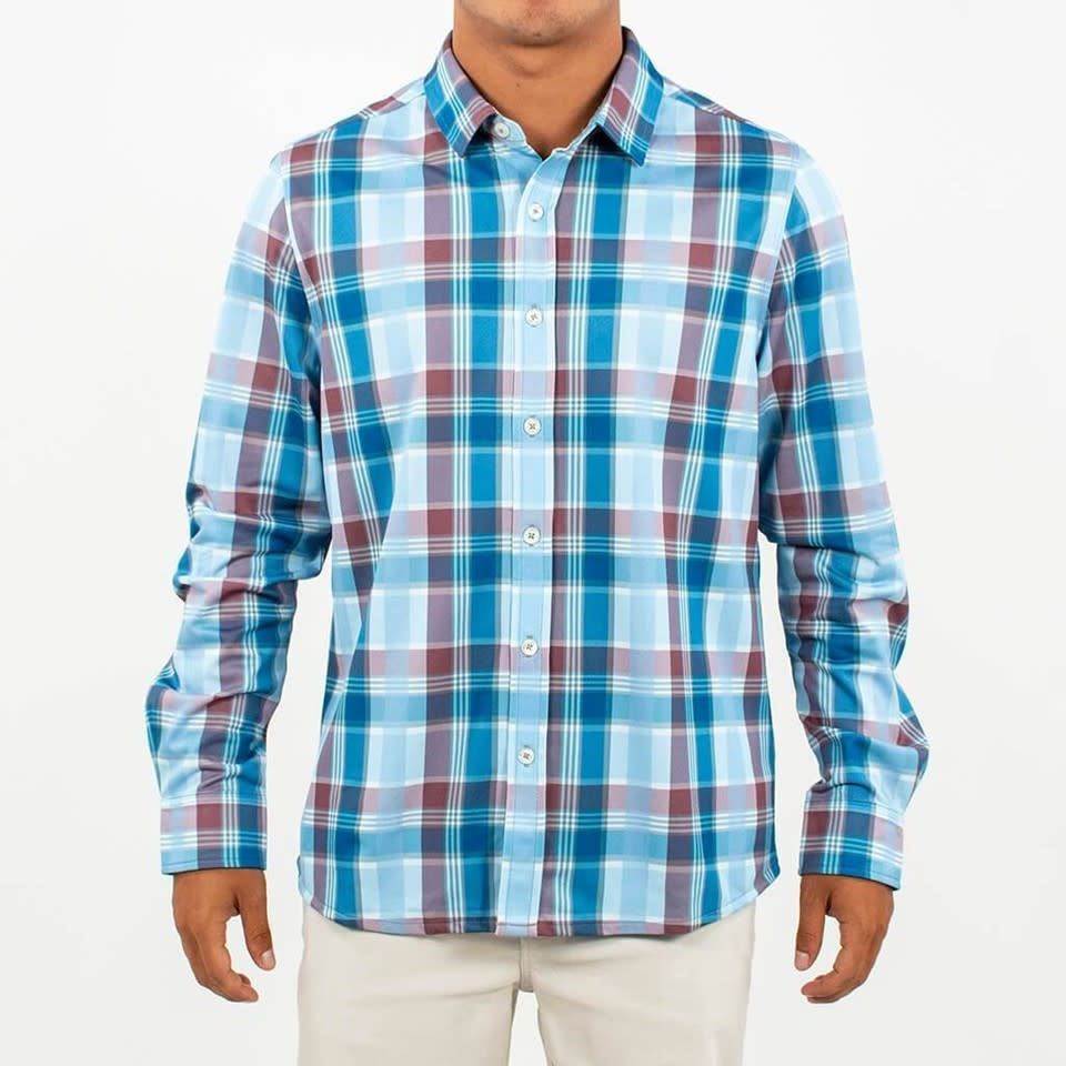 Toes on the nose Toes on the Nose Waterfall LS Performance Button-Up TK917