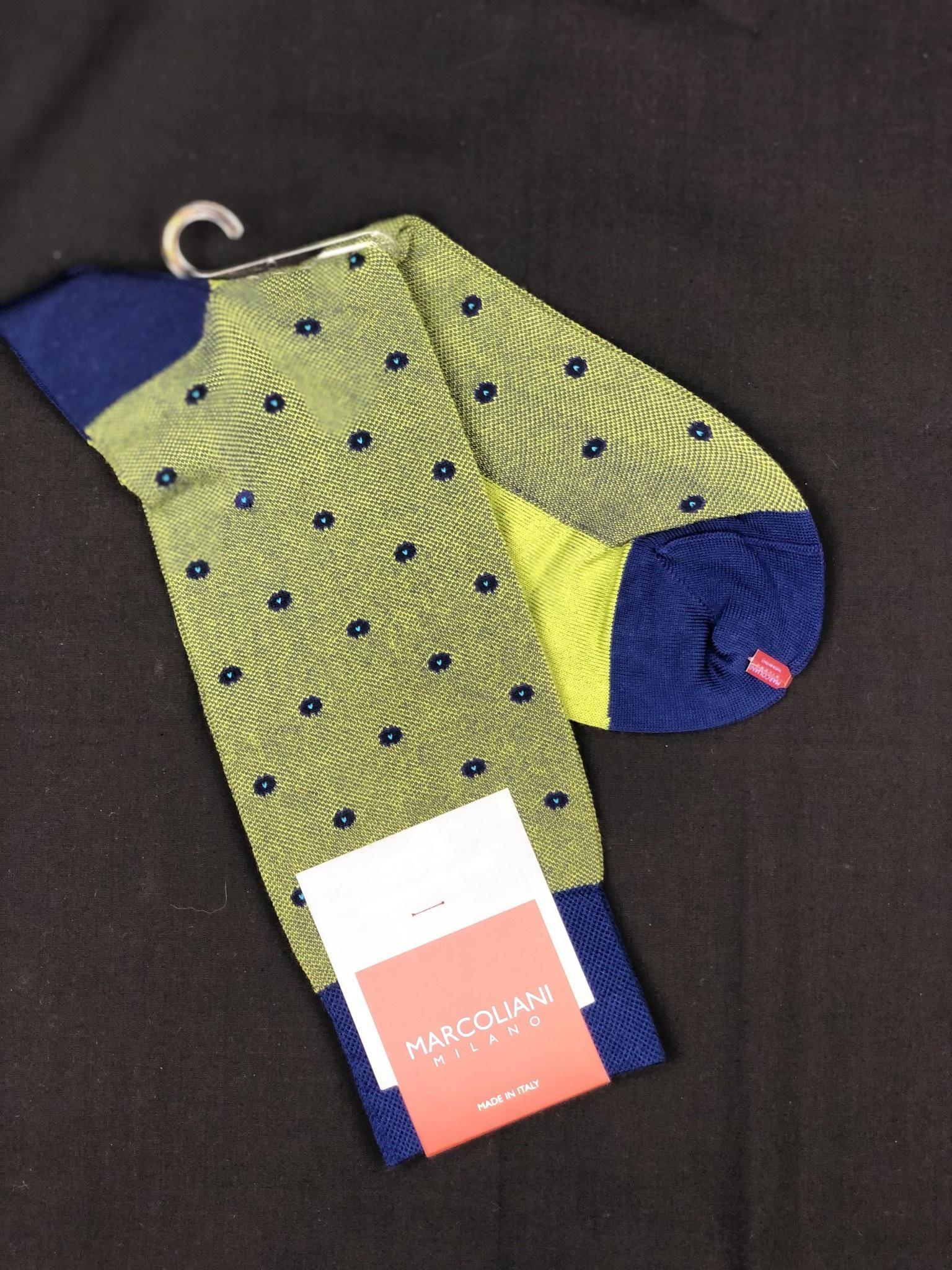 MARCOLIANI Marcoliani Mid Calf Pique Dots Elegant Style Socks MAR4355T