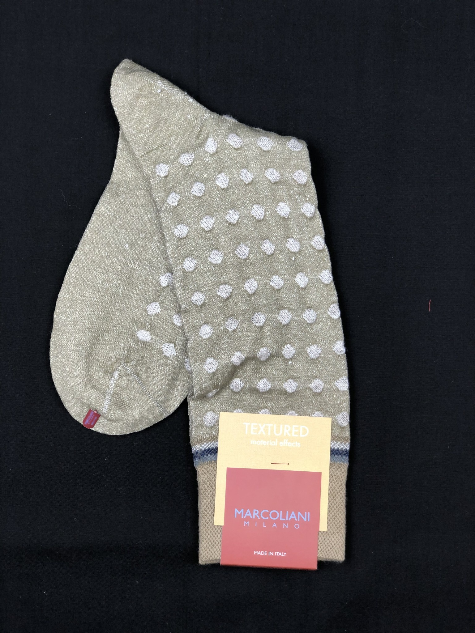 MARCOLIANI MAR4348T MID CALF LINEN COTTON SOCK