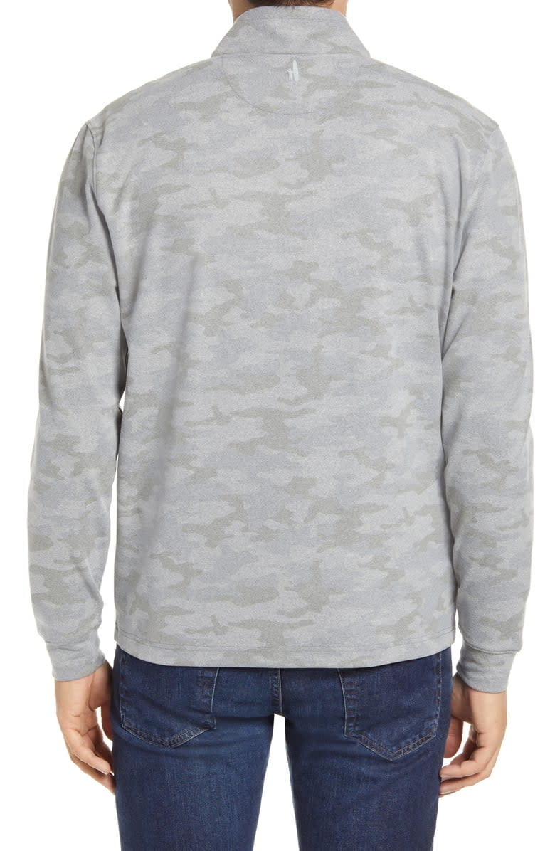 JOHNNIE-O Johnnie-O Rodney Camo Quarter Zip Micro Fleece Performance Pullover