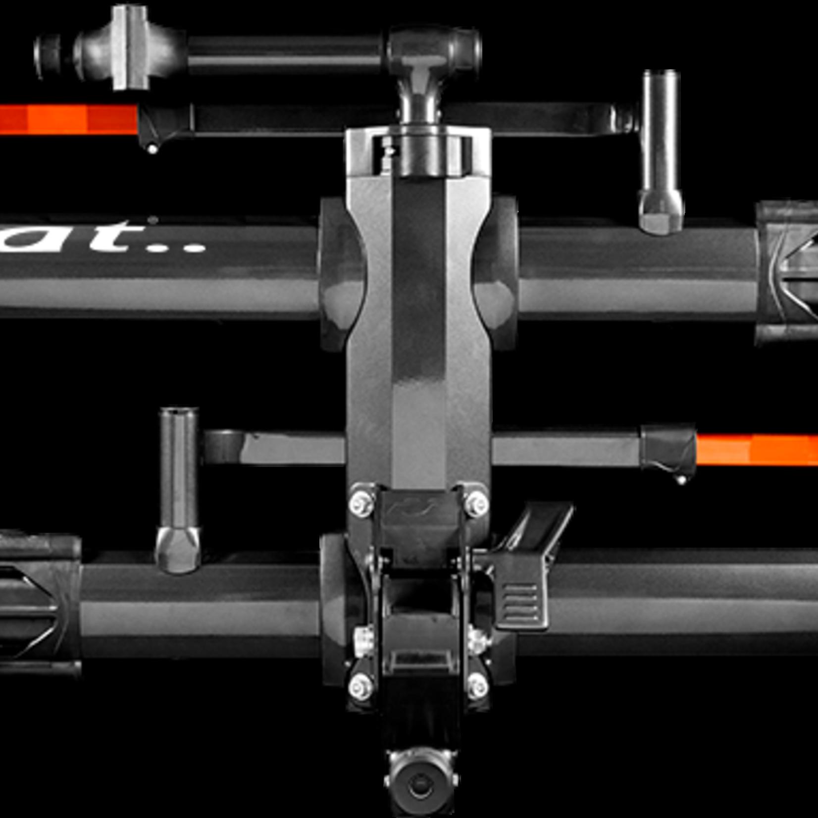 "Kuat Kuat NV 2.0 2-Bike Hitch Rack: Met .Gray & Orange, 2"" Receiver"