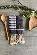 Scents and Feel Solid & Stripes Lurex Towel