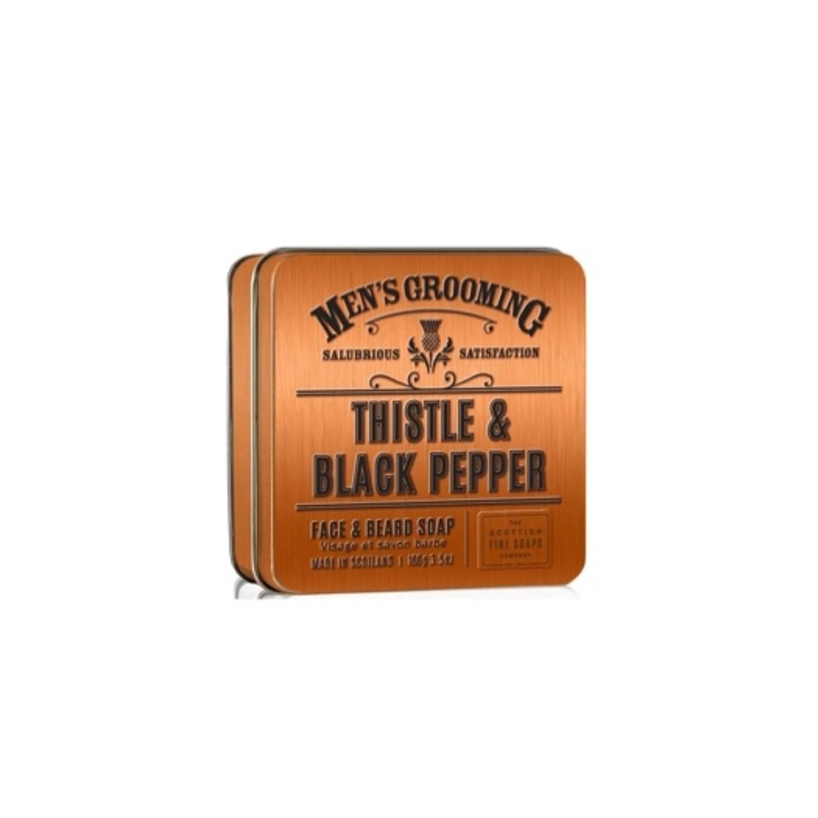 Scottish Fine Soaps Thistle & Black Pepper Face & Beard Soap