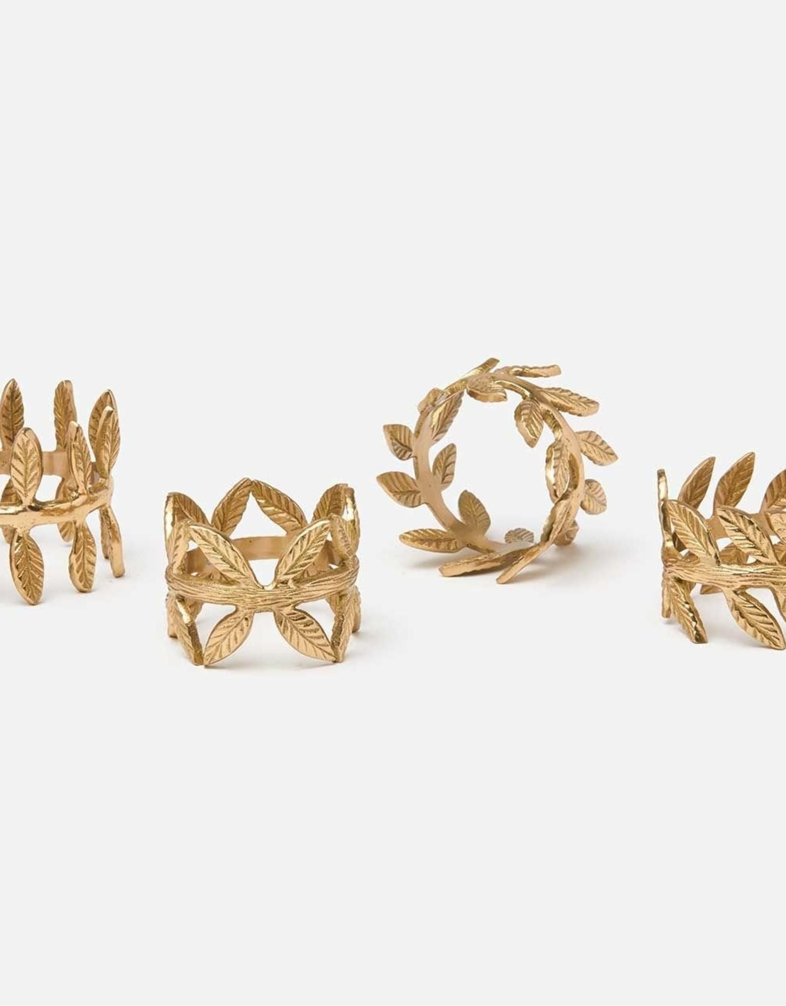 Blue Pheasant Emma Gold Napkin Ring - Set of 4