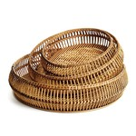 Napa Home and Garden Round River Bamboo Tray