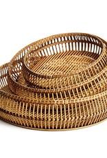 Napa Home and Garden Round River Bamboo Tray