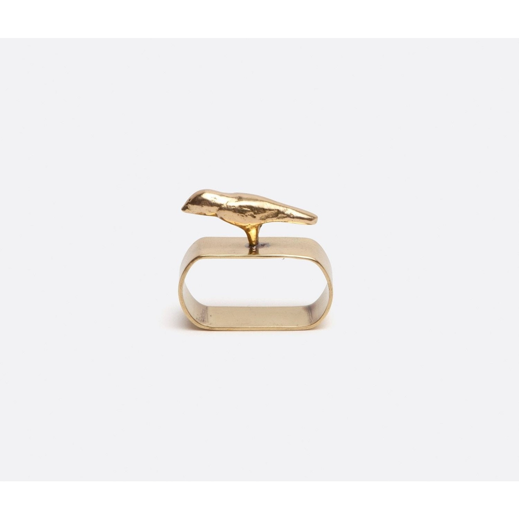Blue Pheasant Hailey Bird Napkin Ring - Set of 4