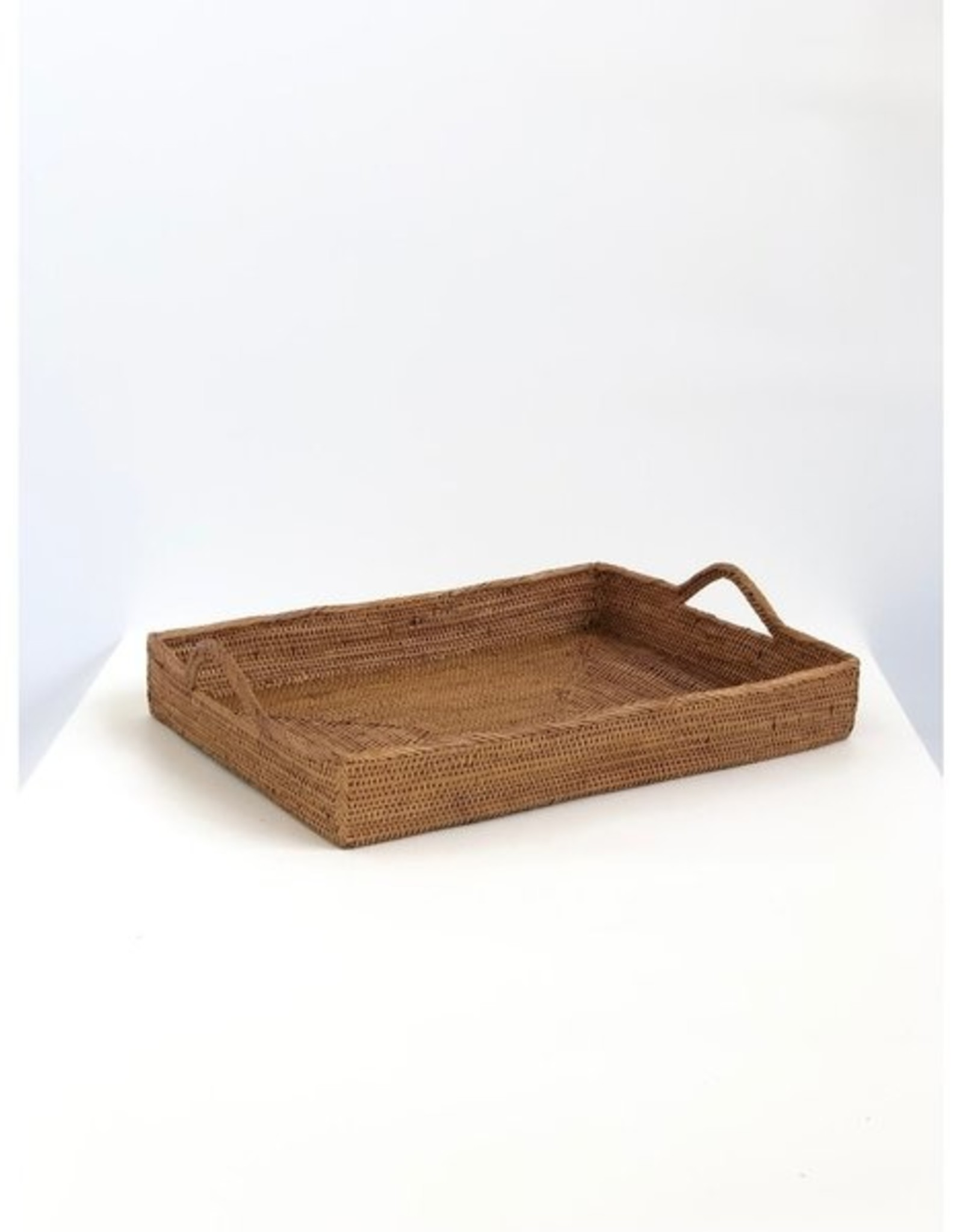 AndYu Ata Grass Serving Tray with Handles