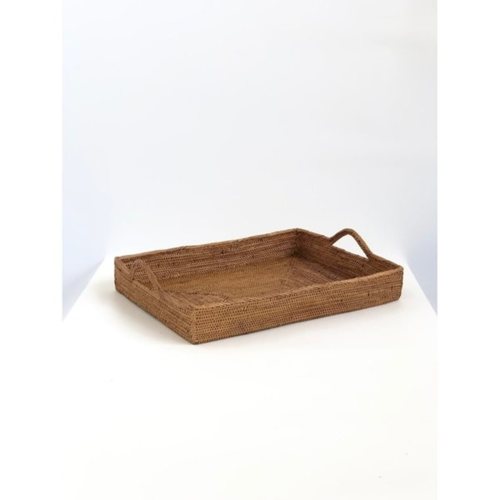 AndYu Ata Grass Serving Tray with Handles